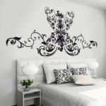 Baroque headboard wall sticker