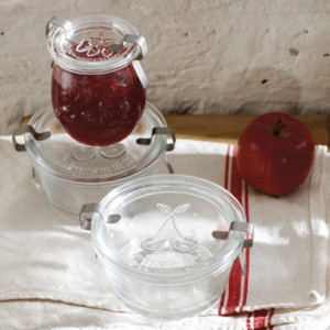 Cherry glass decorative jar