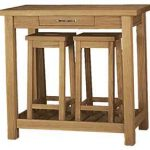 Refectory breakfast console table and stools