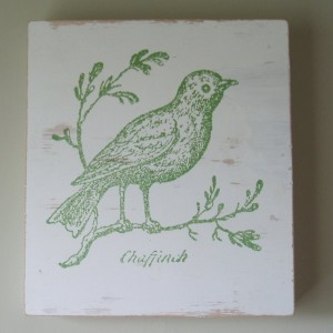 Green bird wall art