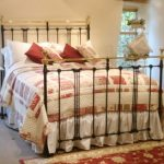 Luxurious king size antique brass bed