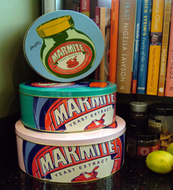Set of Marmite cake tins