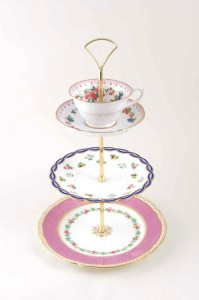 Regency Tea three tier cake stand