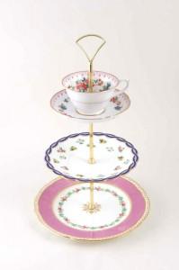 Regency Tea three tier cake stand
