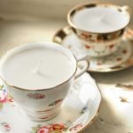 Vintage china teacup candle