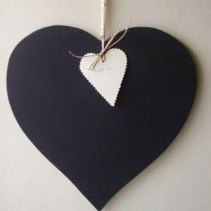 Heart shaped chalkboard