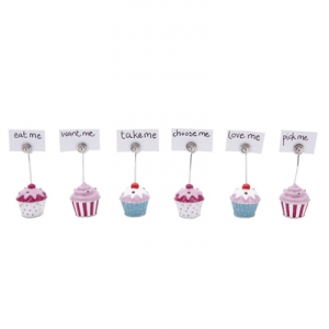Cupcake place card settings