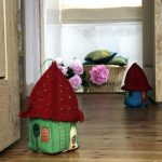 Handmade felt house doorstops
