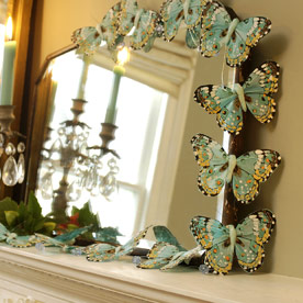 Dainty butterfly garland