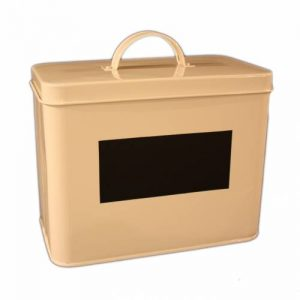 Enamel chalkboard panel storage box