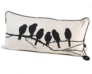 Ferm Living love birds cushion
