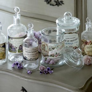 Decorative French bottles