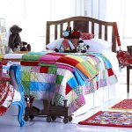 Boho Bebe patchwork quilt and cushions