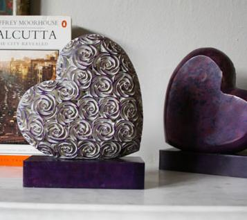 Lilac heart bookend