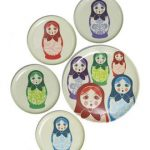 Matryoshka tray and plates from Pedlars