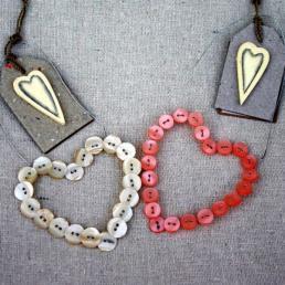 Button heart decorations