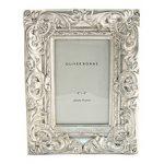 Ornate silver photo frame from Oliver Bonas