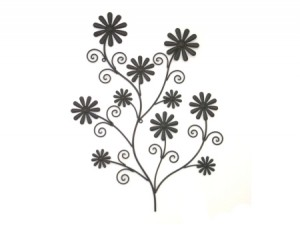 daisy-bunch-bronzed-wall-art