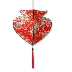 Red kimono print lantern