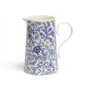 Whittard Old English blue and white china jug