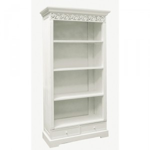 shabby-chic-white-bookcase
