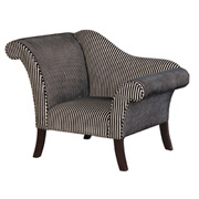 Groovy black and white striped armchair