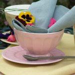 Rose pink ceramic French bowls