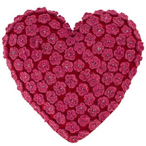 Red 'Sweetheart' heart shaped cushion
