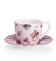 posy-gingham-cup-and-saucer