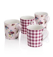 posy-gingham-mugs