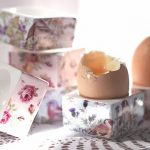 Pretty floral stacking egg cups