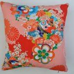 Vintage kimono cushion