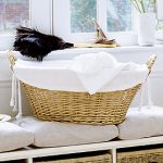 White waffle basket liner from The White Company