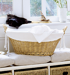 Clever basket liner