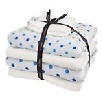 Reduced price blue spotty towel bale set