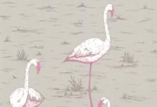 grey-pink-flamingo