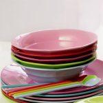 Colourful melamine bowls