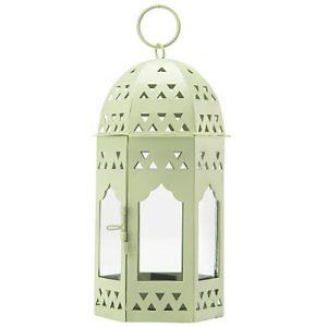 Pale green Moroccan style lantern