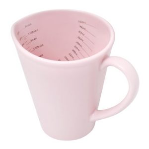 Pink measuring jug