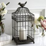 Trendy bird cage candle holder