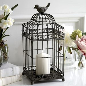 Pop a candle in this bird cage