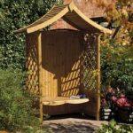 Wooden Rowlinson Tenbury Arbour garden seat