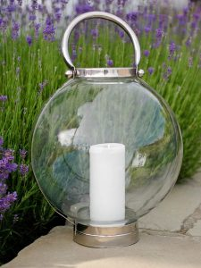 Limited edition glass storm lantern