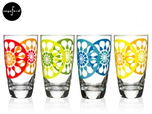 Sagaform juicy high ball glasses