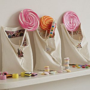 Unusual sweetie bag vase by Olivia Cassells