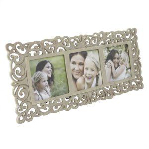 Triple collage ornate multi photo frame