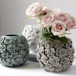 Brissi round Betty rose vase