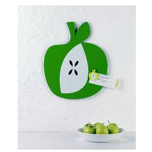 Apple shaped magnetic notice board