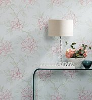 Floral gloss wallpaper