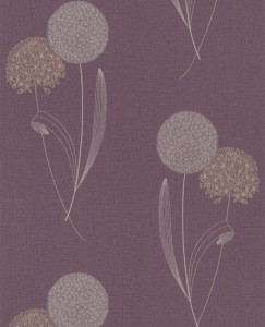 Decorating purple trend flower wallpaper